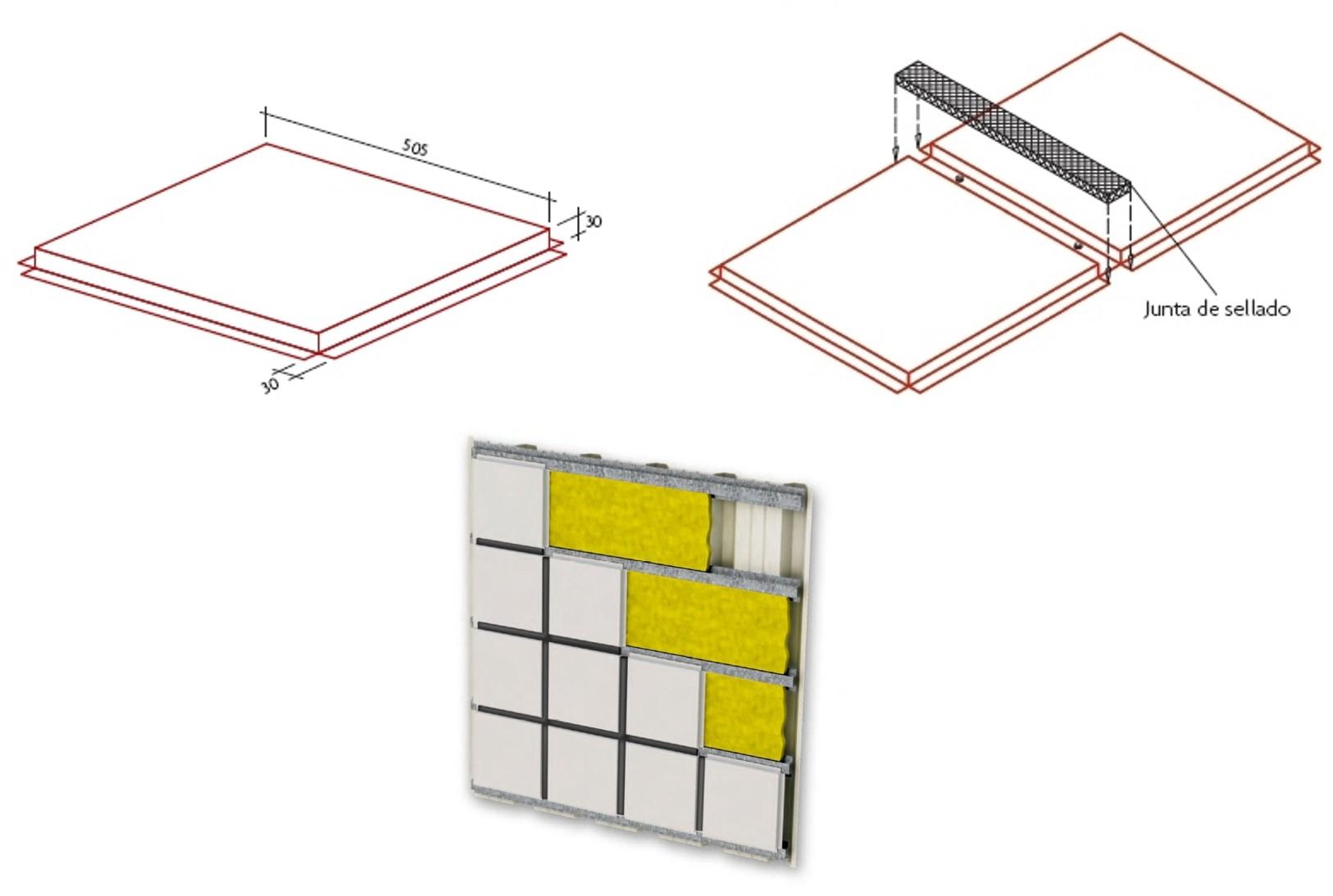 Cassette Arquitectónico 505X505
