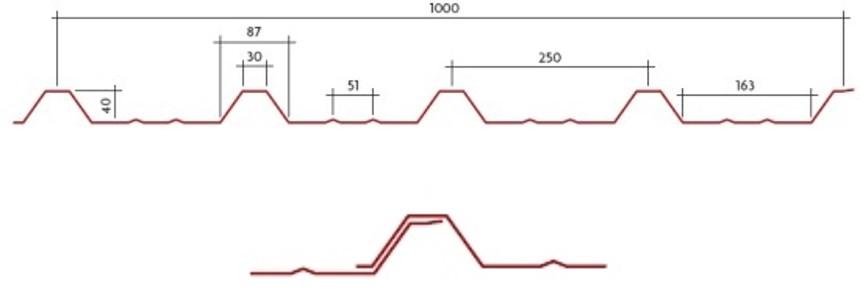 Perfil Trapezoidal DF-40/250