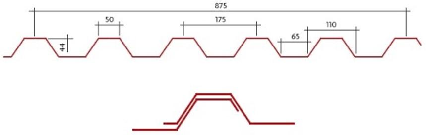 Perfil Trapezoidal DF-44/175