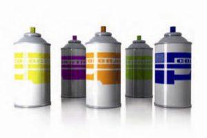 Botes de pintura en spray